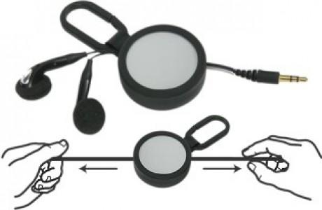 אוזניות יו-יו עם כבל נמתח