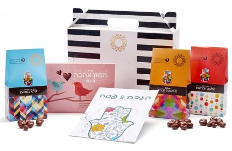 חבילת שי - עם הגדה לפסח ושוקולדים