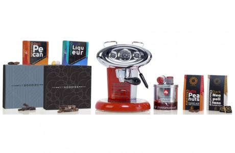 חבילת שי יוקרתית - שוקולדים ומכונת קפה