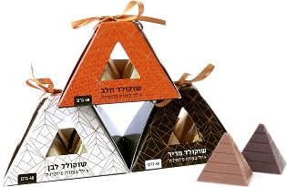 מארז שוקולד בעיצוב פירמידה