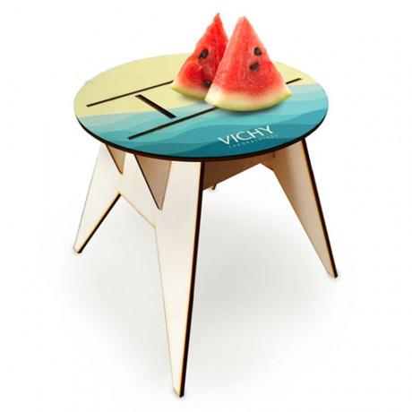 שולחן חוף עגול ממותג