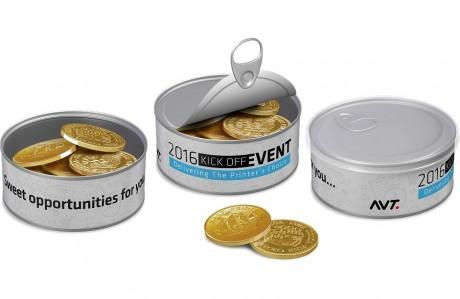פחית מטבעות שוקולד - AVT