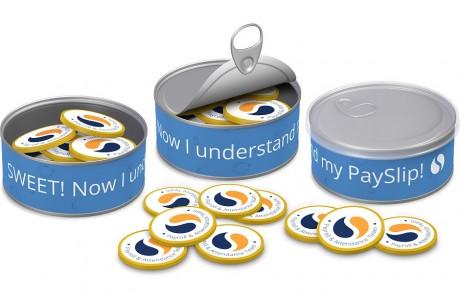 פחית מטבעות שוקולד - PaySlip
