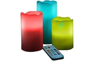נרות לד אלקטרוניים מחליפי צבעים