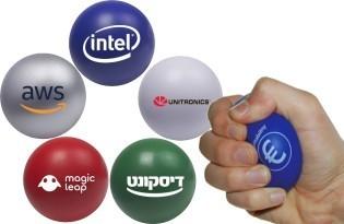 כדורי לחץ עגולים צבעוניים ממותגים