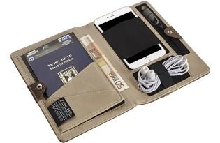 נרתיק נסיעות לדרכון ולמסמכים משולב מטען נייד