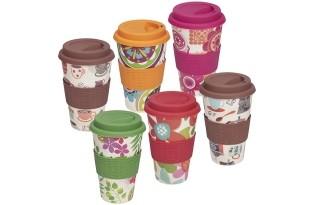 כוס תרמית מבמבוק במגוון צבעים