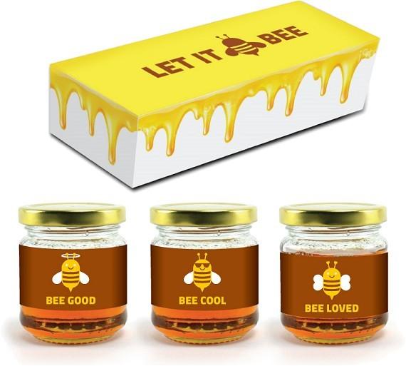 מארז 3 צנצנות דבש בוטיק