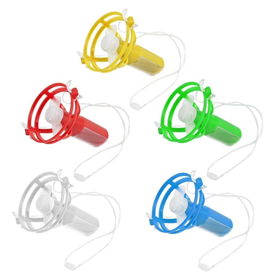 מאוורר אישי נייד וממותג שמשאיר את הידיים פנויות - מבחר צבעים קיציים במתנה ממותגת משלכם