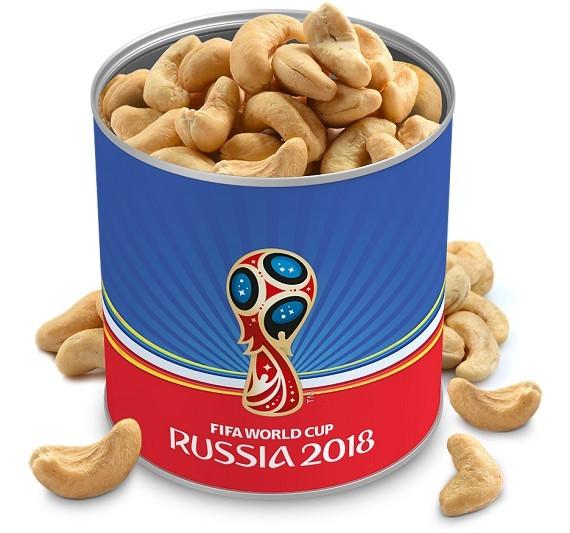 אגוזי קשיו בפחית ממותגת - מונדיאל 2018