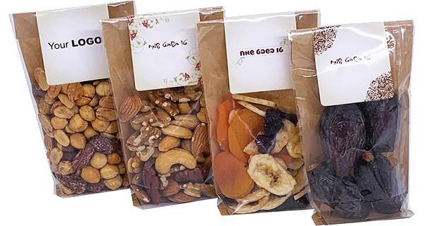 מגוון סוגי מארזי פיצוחים ופירות יבשים לבחירתכם