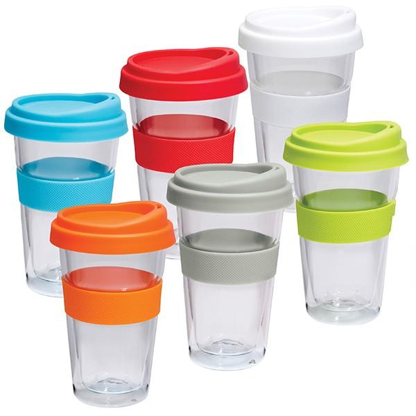 כוס תרמית מזכוכית במגוון צבעים לבחירתכם