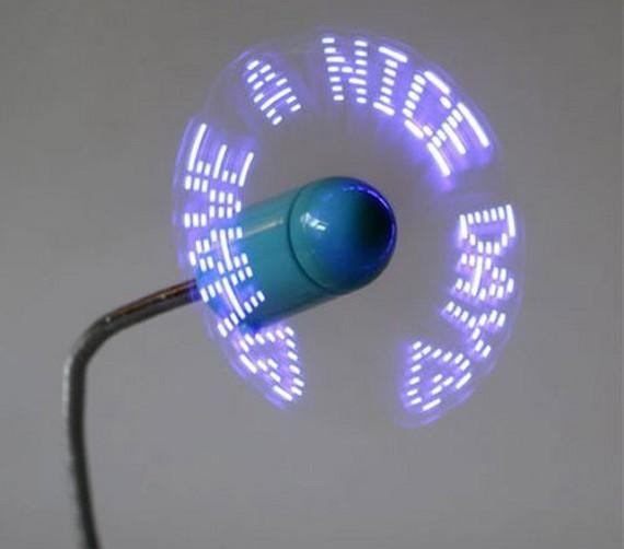 מאוורר USB אישי מציג כתוביות לדים