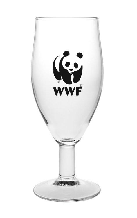 כוס בירה ממותגת עם רגל 320 מ