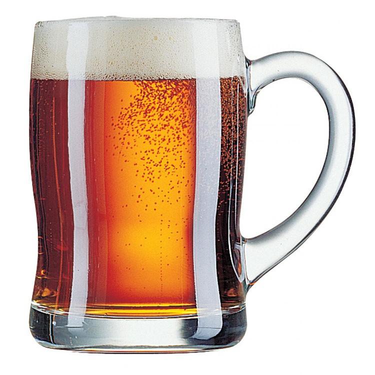 כוס בירה עם ידית עבה לאחיזה נוחה מדגם