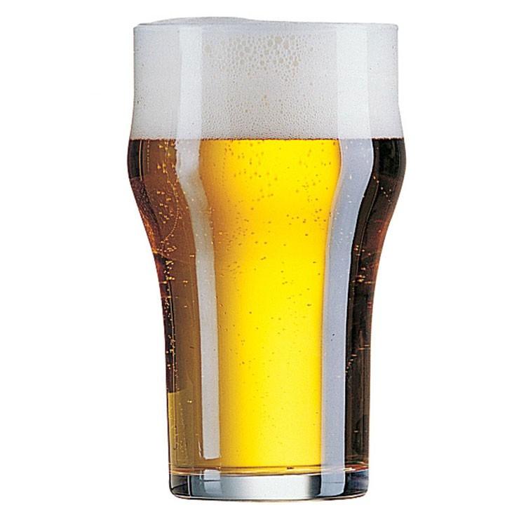 כוס בירה ממותגת עם בטן 345 מ