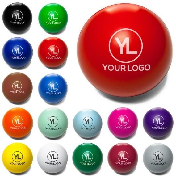 כדורי לחץ עגולים צבעוניים עם לוגו