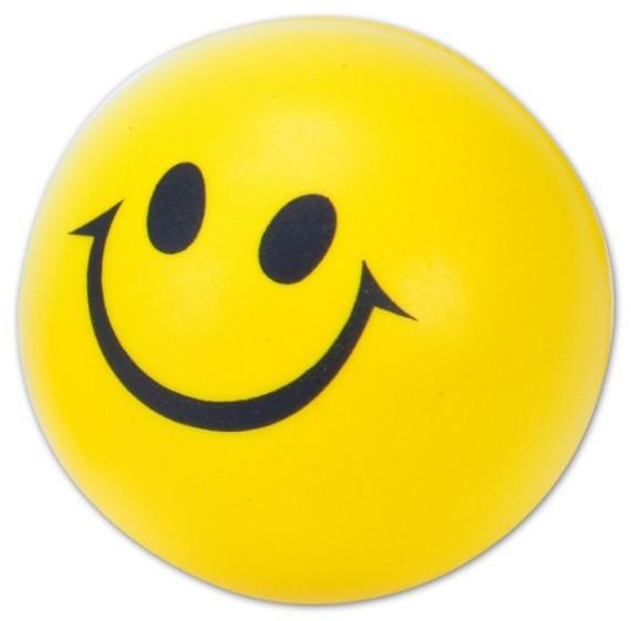 כדור לחץ סמיילי שמח עם לוגו