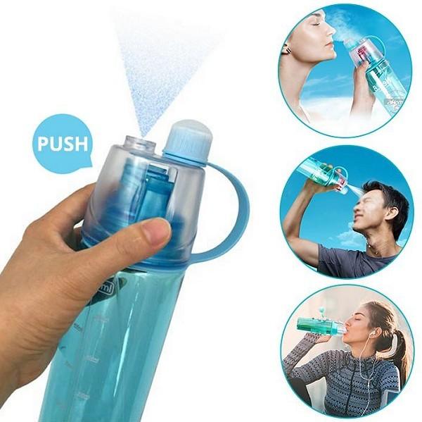 בקבוק ספורט עם מתיז מים